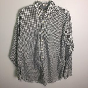 Peter Miller Black Gingham Button Down Shirt Sz L